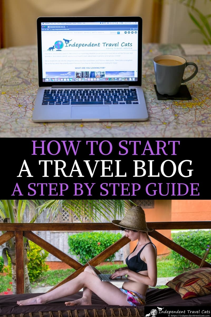 A step-by-step guide to how to start a travel blog from professional travel bloggers. Do you want learn how to start a travel blog or a travel website? We break down the basic steps to get your started, and tell you how to set up a travel blog in 10 easy steps. These include selecting your domain name, choosing a web host, setting up a file transfer protocol program, picking plugins, and choosing a publishing schedule. #travelblog #travelblogging #blogging #howtostartatravelblog #bloggingtips