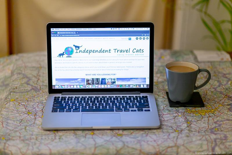 how to start a travel blog Laptop Independent Travel Cats