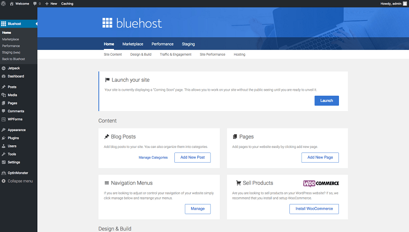 Bluehost how to start a travel blog WordPress set up