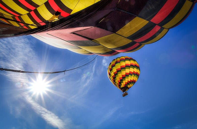 Napa Valley without wine hot air ballon rides