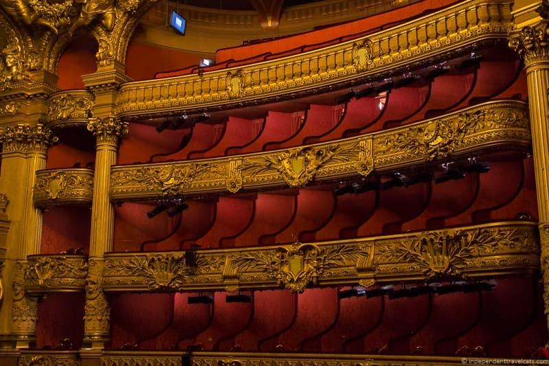 seats attending the Paris Opera Garnier Palais Garnier Palais Garnier