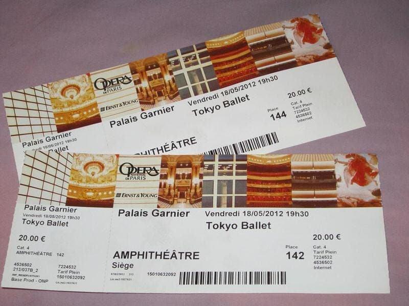 Palais Opera Garnier tickets