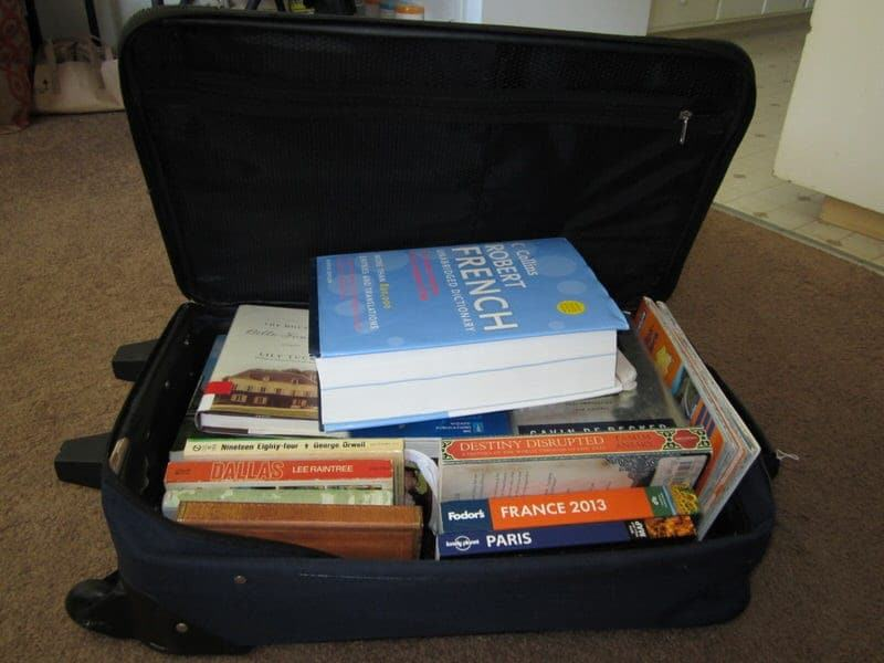 traveling with books reading during travel
