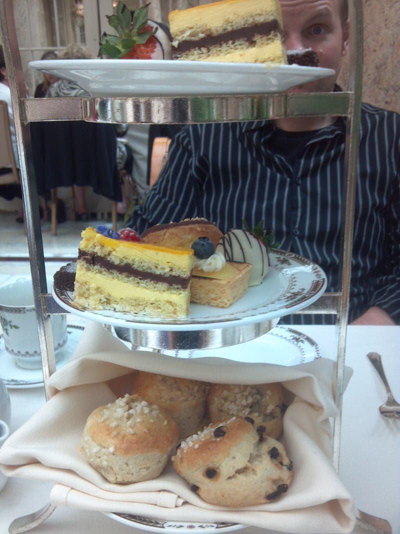Palace Hotel tea in San Francisco