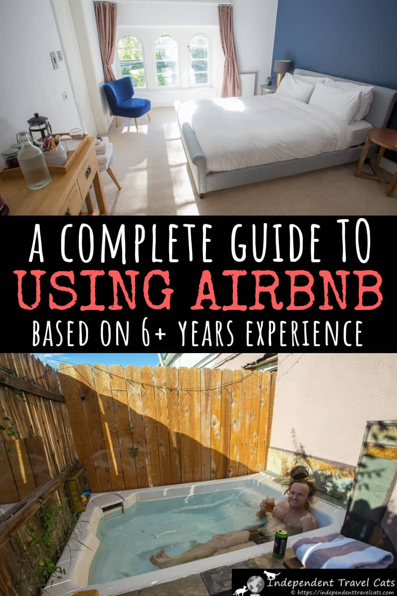 A guide to using Airbnb to book apartments, rooms, and vacation rentals based on our experiences using it to book properties around the world since 2012. We also share tips on picking properties, saving money, avoiding scams, and how to save money. Our Airbnb review should help you decide if it is for you or not. #Airbnb #Airbnbreview #Airbnbtips #traveltips #lodging #travel #accommodation #apartments #wheretostay #selfcatering #bookingwebsites #budgettravel