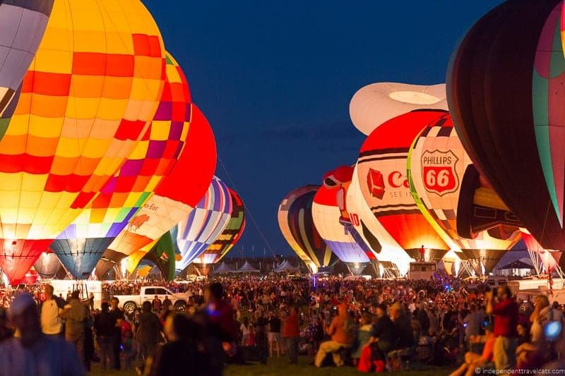 Albuquerque Balloon Fiesta evening Balloon Glow