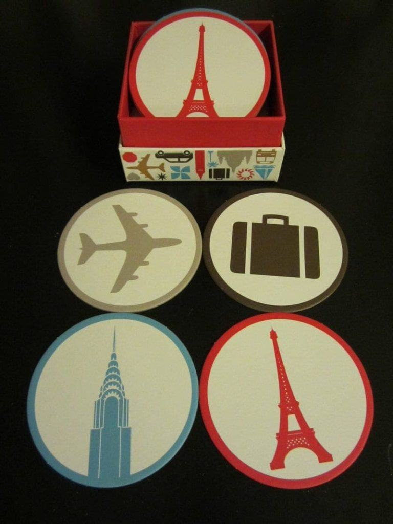 travel blogging coasters