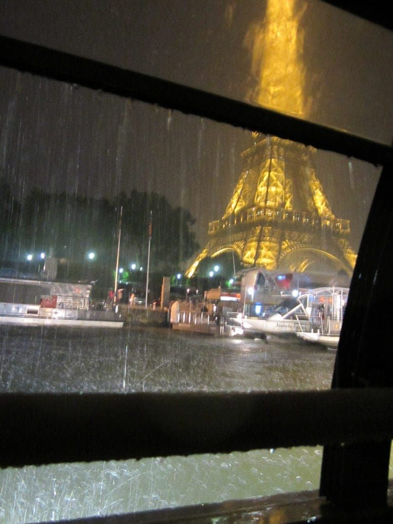 rainy picture from inside boat