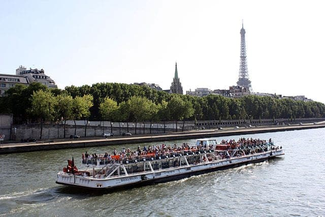 Paris Seine River cruise boat