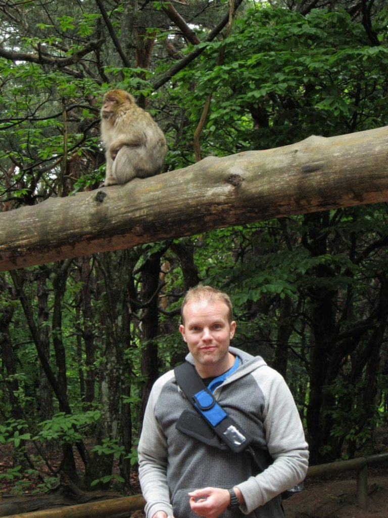 monkey park in the Alsace