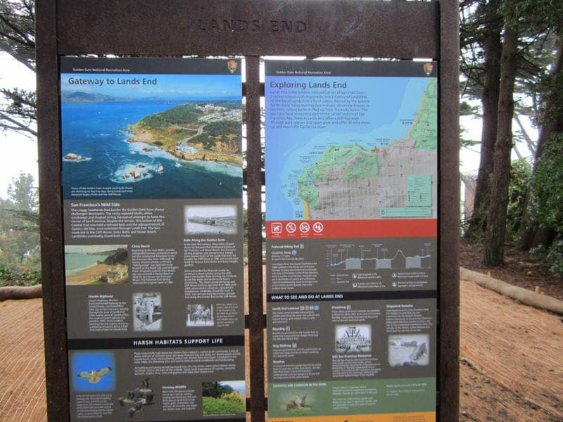 Lands End trail Land's End hike San Francisco California