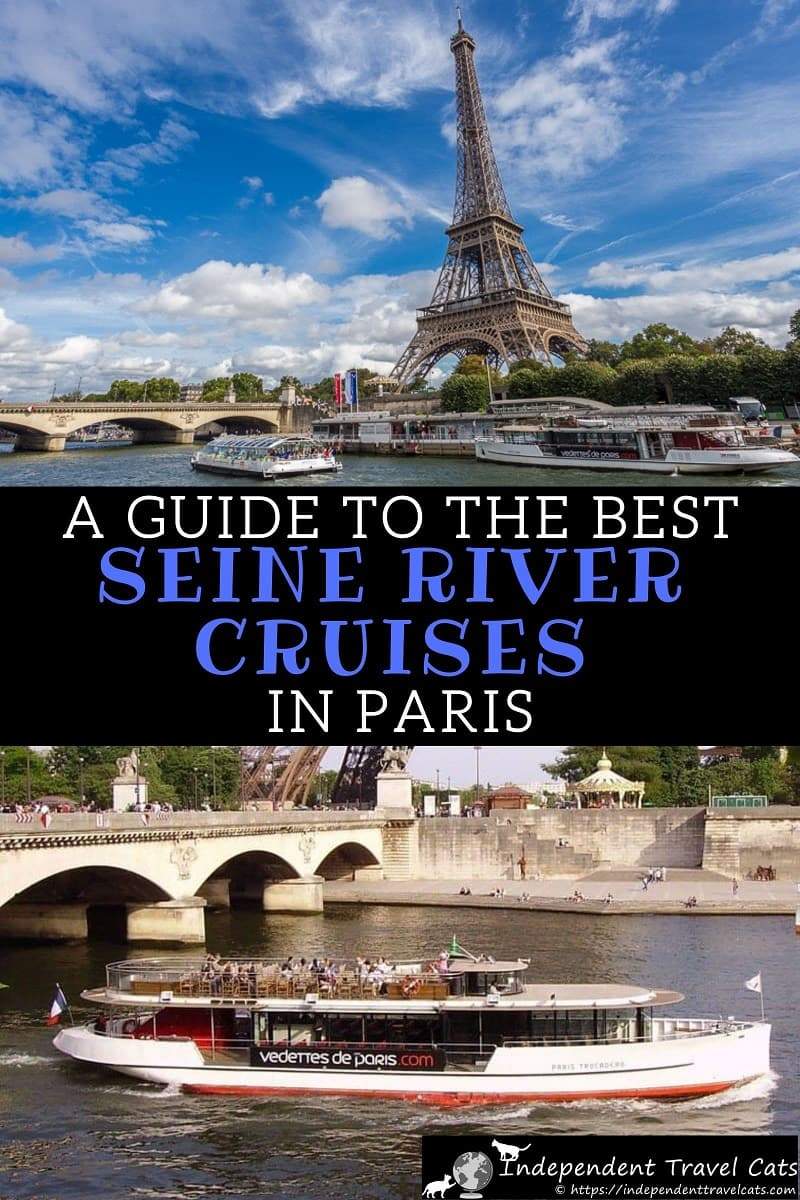 A guide to finding the best Seine river cruises in Paris. The guide reviews all the top cruise companies, listing cost, duration, narration type, departure points, and other information. We also provide information for those wanting to book a dinner cruise or private Seine cruise. #Seinecruise #Paris #Seinerivercruise #Seine #river #cruise #France