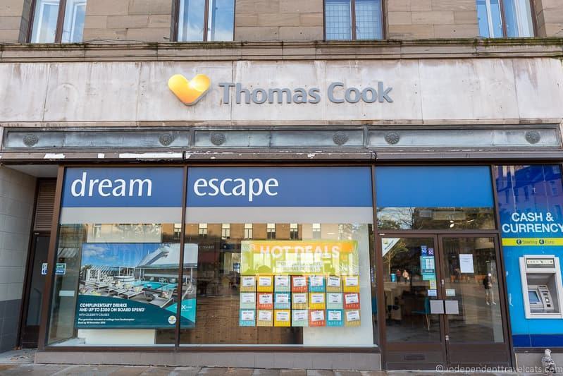 Thomas Cook travel agency store UK