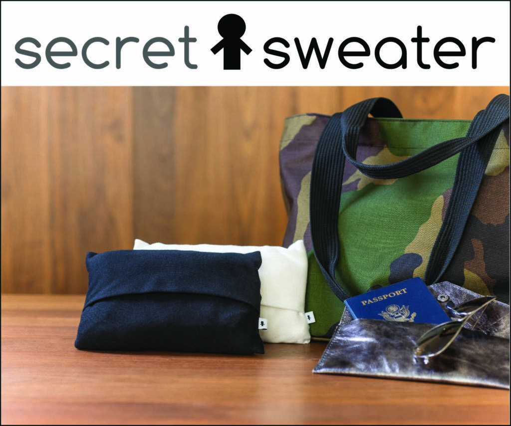 Secret Sweater travel accessory for women travel gift travel sweater