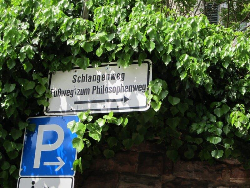 Philosophenweg Philosophers Walk in Heidelberg Philosophers' Way Heidelberg Germany