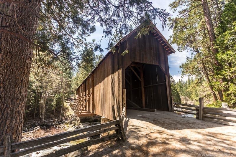 Covered Bridge Pioneer Yosemite History Center Yosemite National ParkWawona southern south entrance