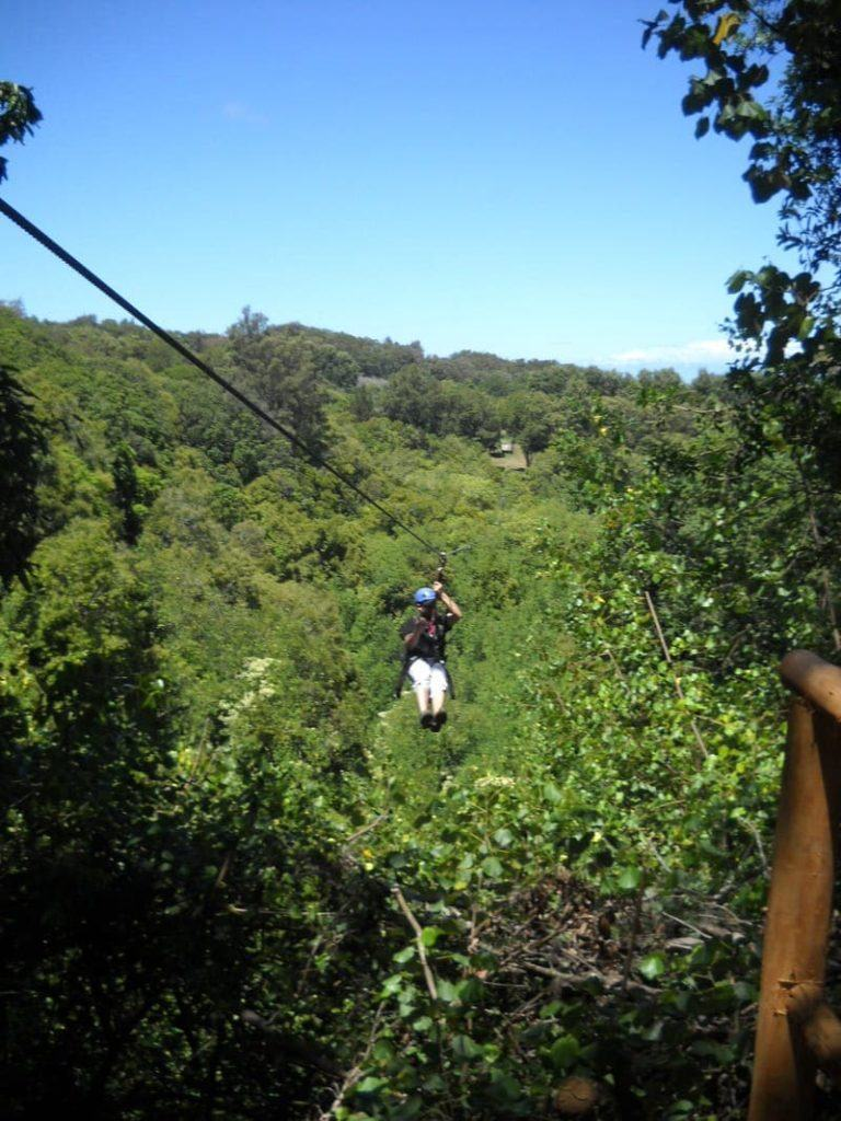 ziplining on the Big Island of Hawaii best zip line big island