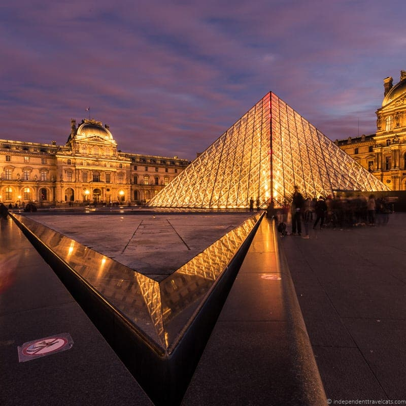 Louvre Paris Dusk Paris Museum Pass review