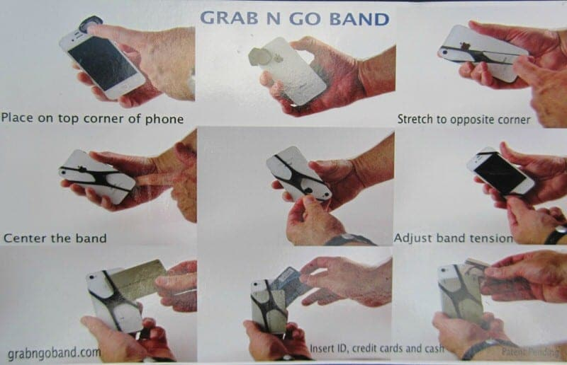 Grab N Go Band phone storage rubber bands travel blog review