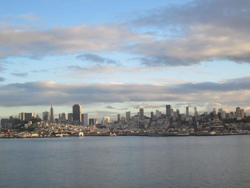 View of San Francisco from the island