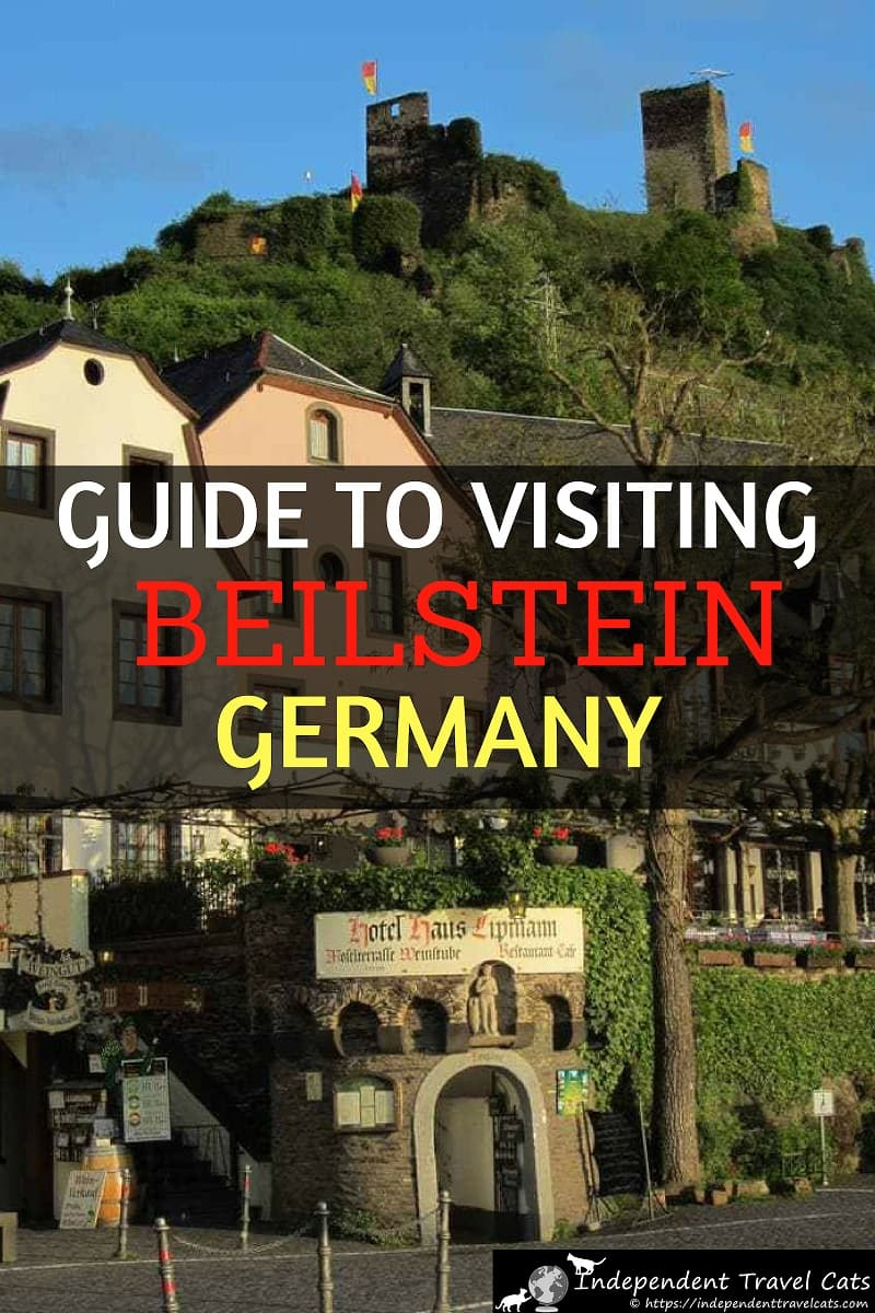 "A travel guide to Beilstein Germany. Beilstein is a tiny town located along the peaceful Moselle River (Mosel River in English), known as the ""Sleeping Beauty of the Moselle"" due to its beautiful setting and historic inaccessibility. The Moselle River Valley has castles, vineyards, and cute villages. We'll provide tips for visiting, things to do in Beilstein, and suggestions of where to stay in Beilstein and nearby Cochem. #Beilstein #Germany #MoselleValley #MoselRiver #MoselleRiver #travel"