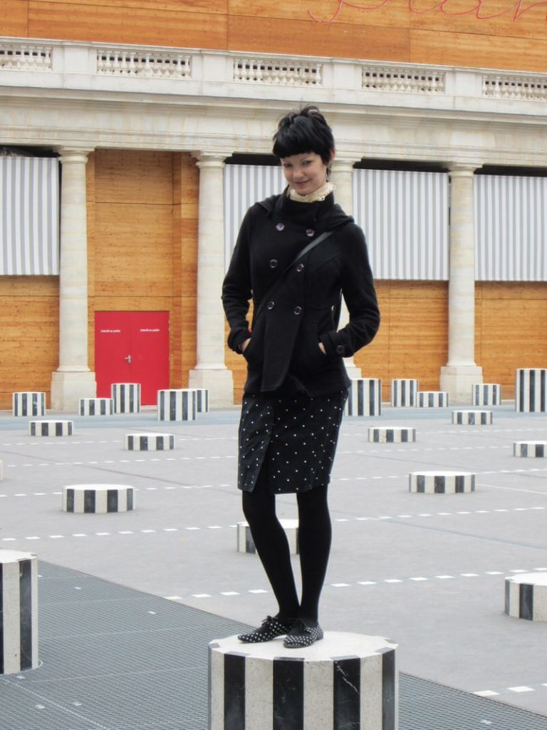 Palais Royal Paris black and white columns