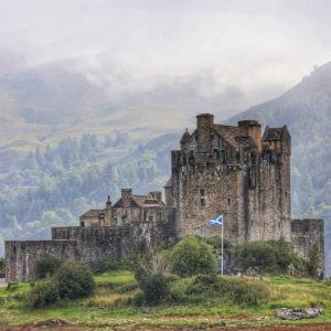 The famous Eilean Donan Castle Dramatically situated at the meetinghellip