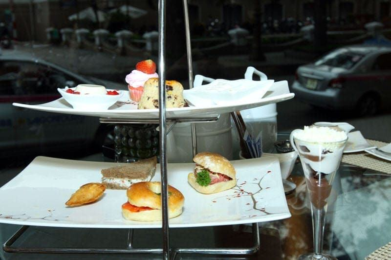 afternoon tea in Ho Chi Minh City Vietnam high tea at Caravelle Hotel