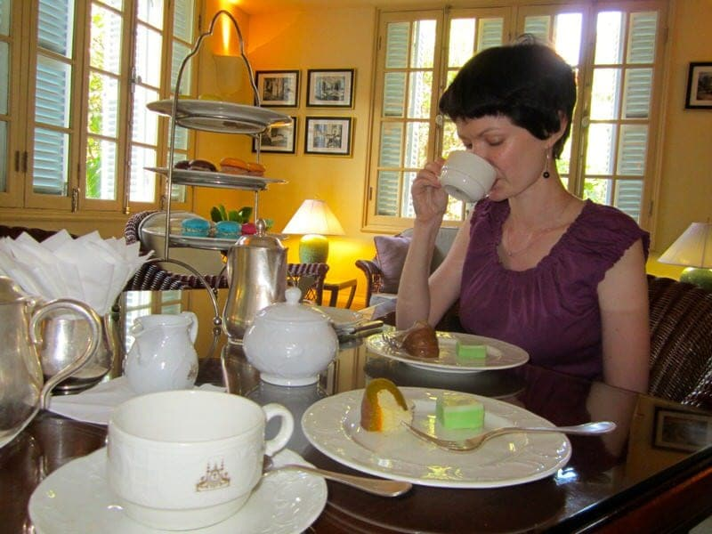 Raffles Hotel Le Royal Phnom Penh Cambodia hotel afternoon tea review