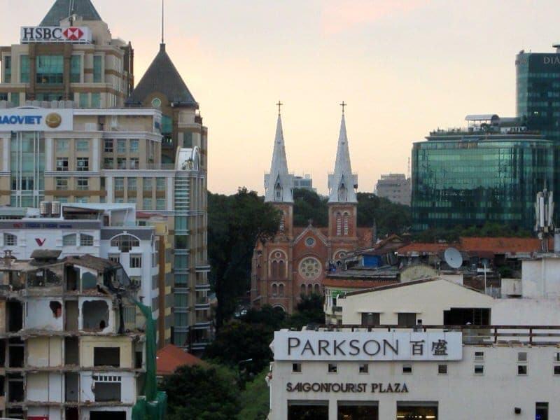 Saigon Saigon Bar at Caravelle Hotel rooftop view afternoon tea