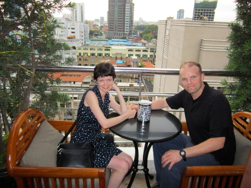 Saigon Saigon Bar at Caravelle Hotel rooftop view afternoon tea