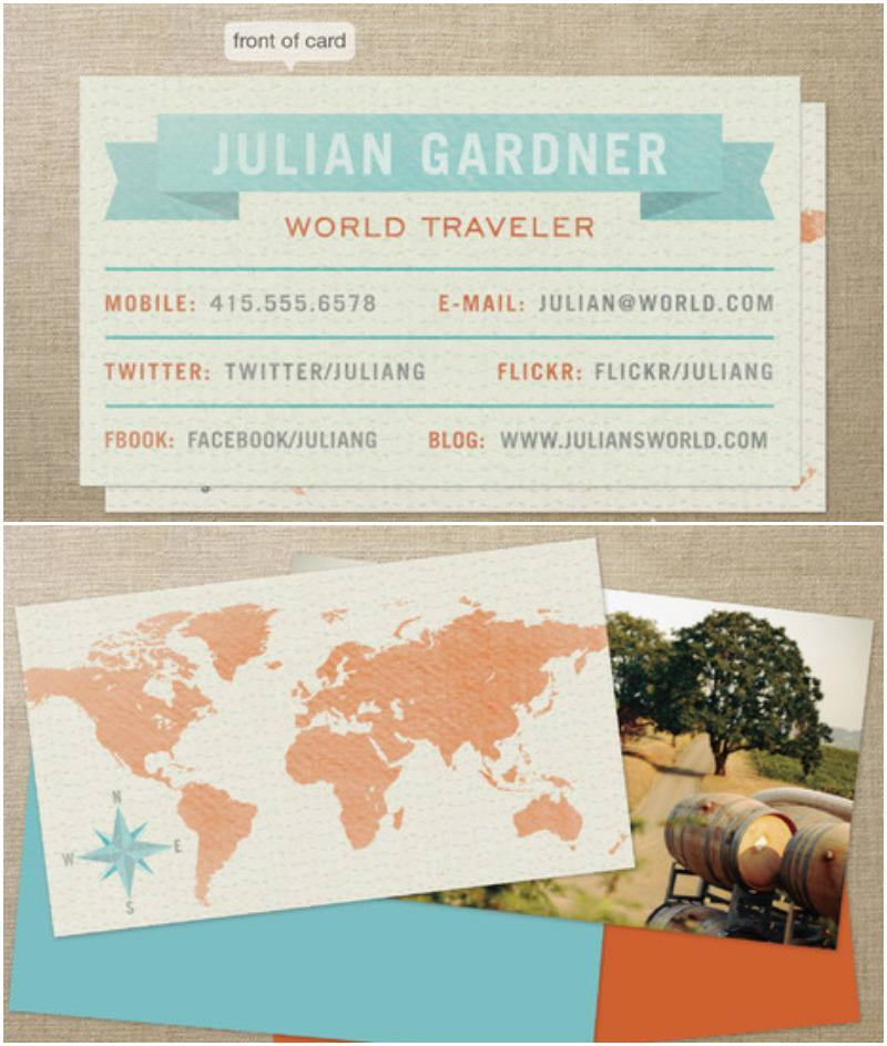 Minted Business card - Independent Travel Cats