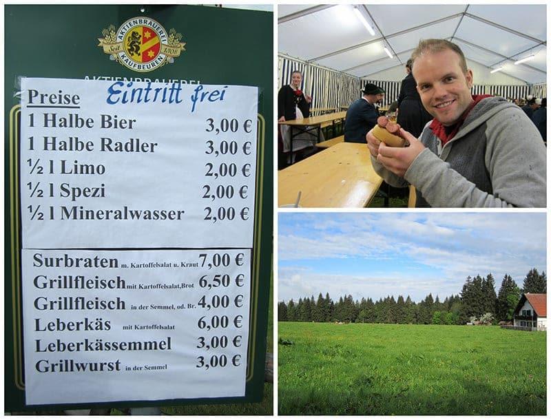 Aktienbrauerei Kaufbeuren local German beer festival Steingaden beer in Bavaria