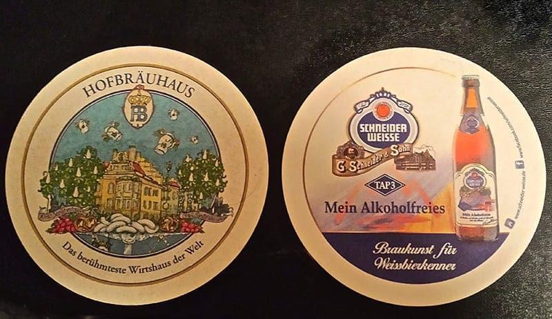 Hofbrauhaus Schneider Weisse Weisses Bräuhaus German beer coasters beer in Bavaria