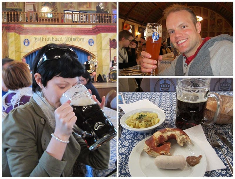 Hofbrauhaus beer and food beer halls in Munich Germany beer in Bavaria
