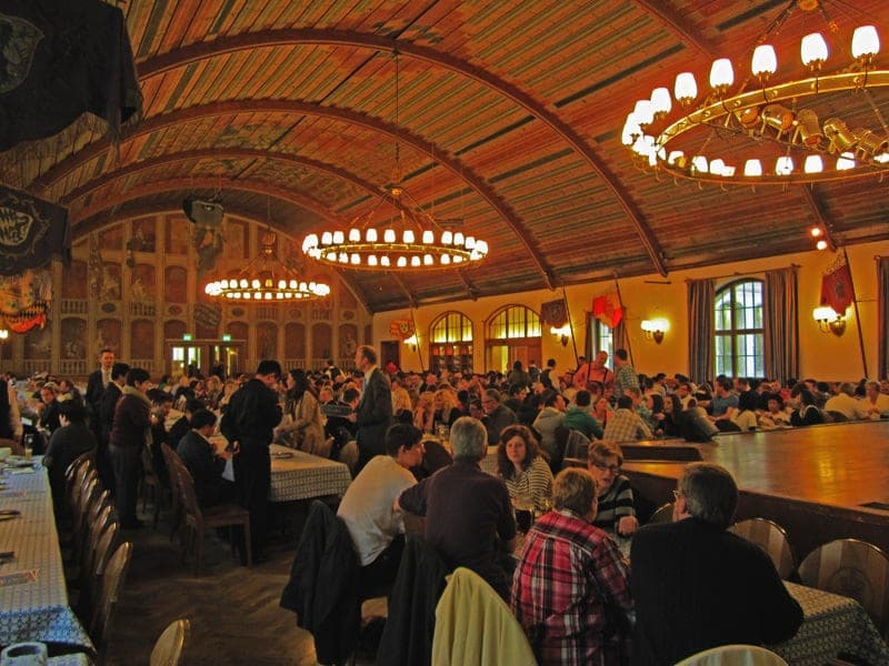 Hofbrauhaus festival hall beer halls in Munich Germany beer in Bavaria