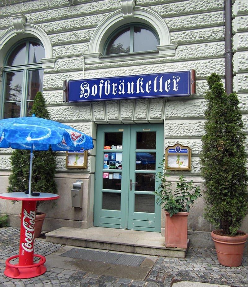 Hofbraukeller beer cellar restaurant Munich Germany Hofbrau beer in Bavaria