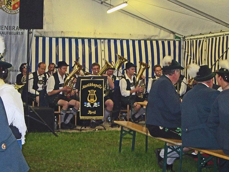 traditional-German-band-in-Bavaria Bavarian music beer festival beer in Bavaria