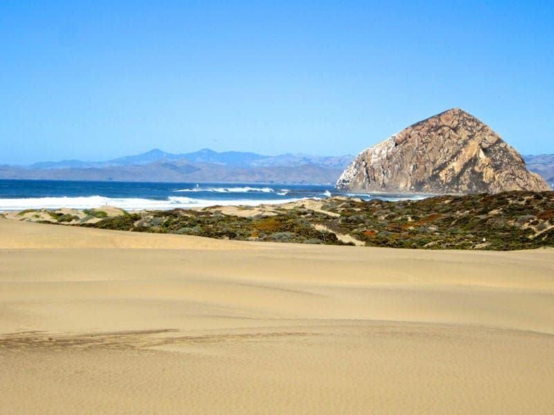 Morro Rock sand dunes Morro Bay