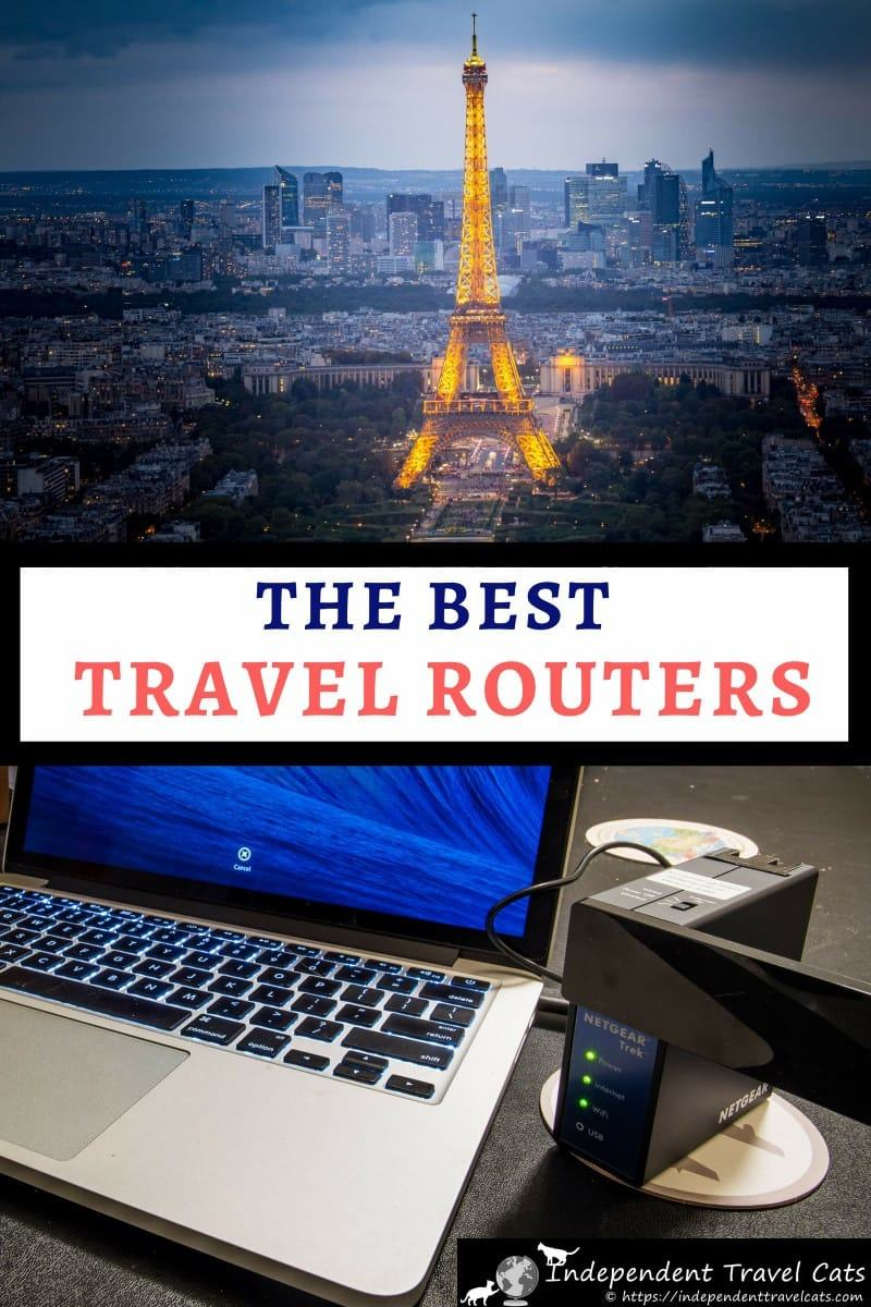 A travel router is a compact little device that solves common Internet issues while traveling and offers a number of features to the on-the-go traveler who wants to stay connected. It can act as a wireless range extender, WiFi access point, and help provide extra security to your Internet connections when traveling. We review the best travel routers to help you decide which is for you! #travelrouter #WiFirouter #traveltips #digitalnomad #travel #router