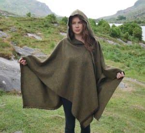 rauna wrap with hood Irish tweed travel wrap poncho best travel wraps for women