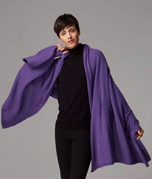 cashmere travel Wrap for women purple travel shawl scarf