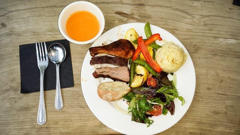 Safari West Sonoma grilled dinner food