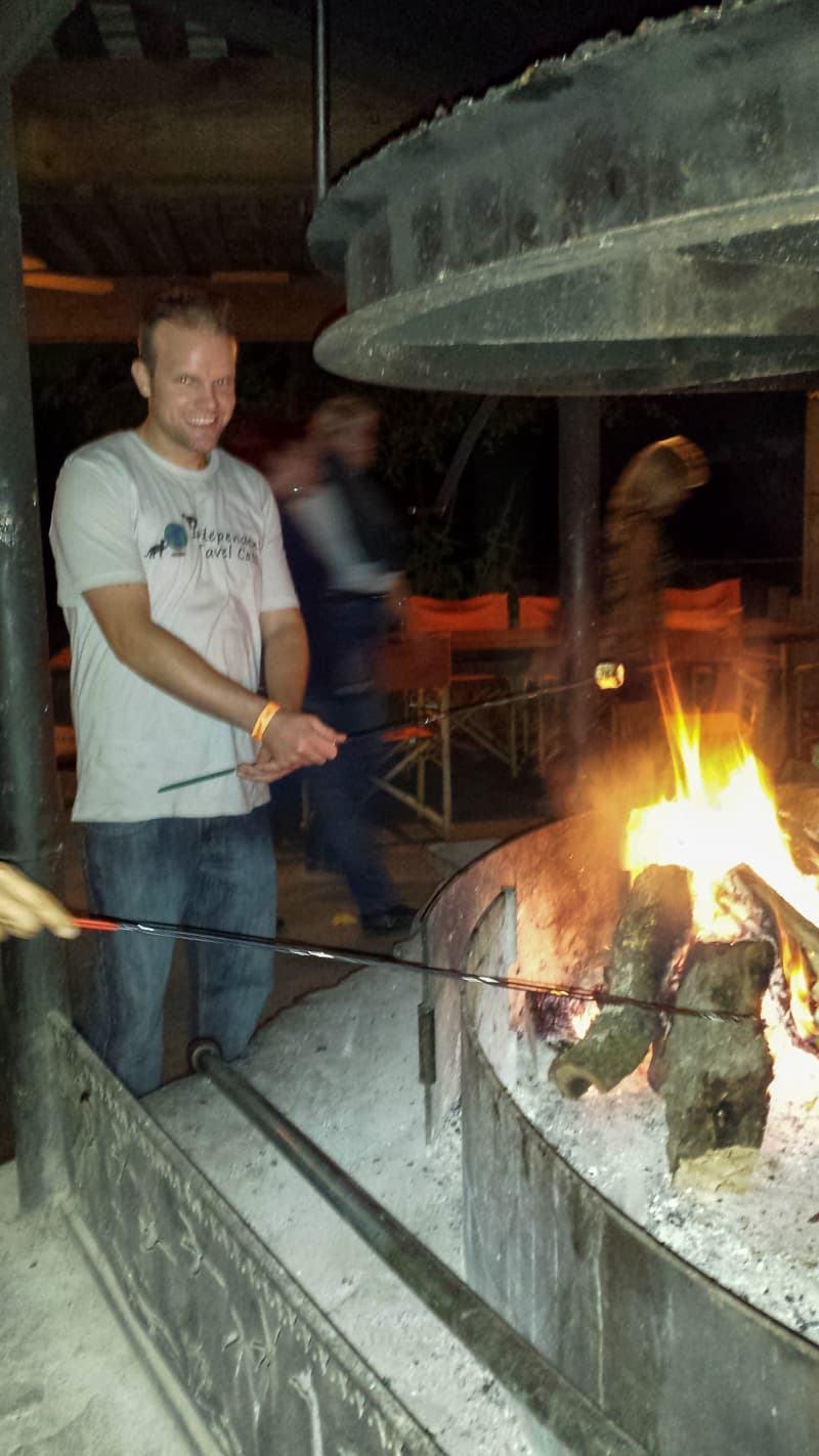 Safari West toasting marshmallows