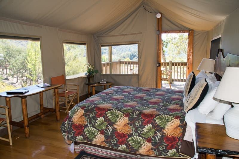 luxury tent glamping Safari West