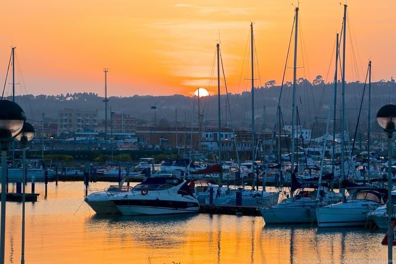 Marina dei Cesari sunset in Fano Le Marche Italy