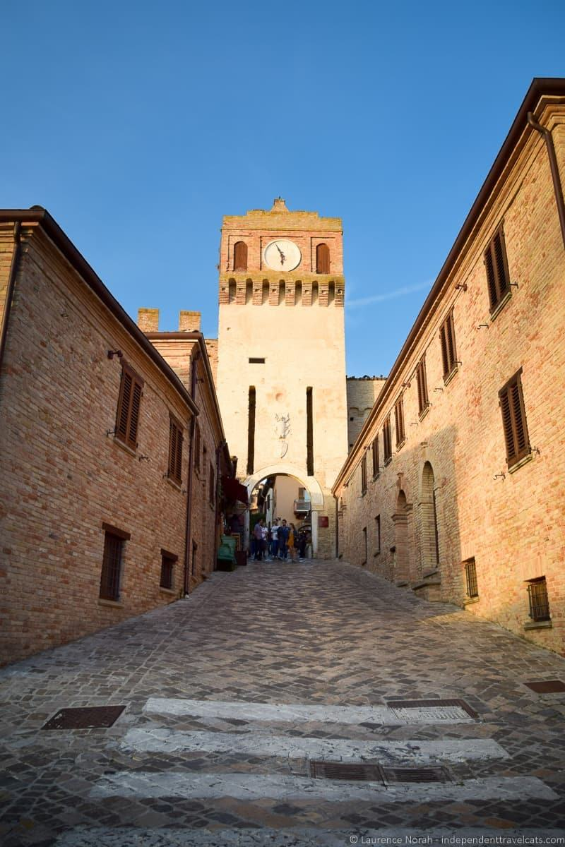 Clock Tower at Gradara Castle Le marche
