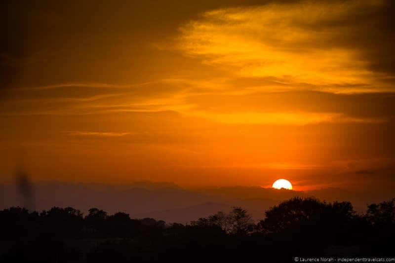 Sunset le marche Italy