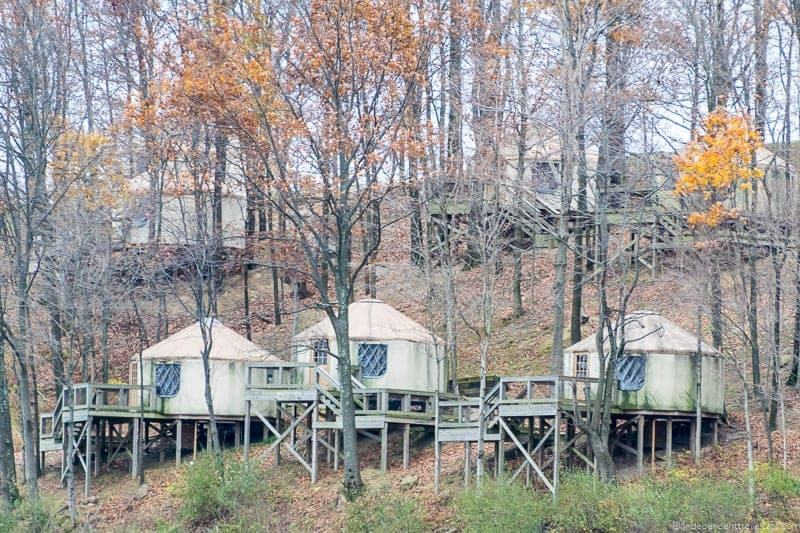 The Wilds Ohio luxury yurts at Nomad Ridge