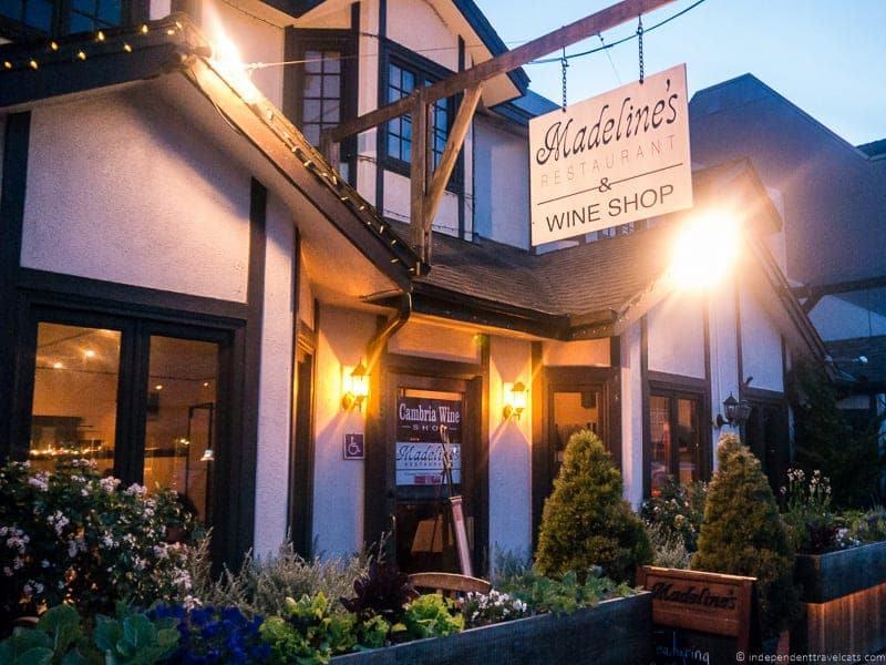 Madelines Restaurant Cambria California
